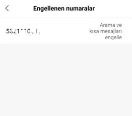 Xiaomi engellenen numaralar
