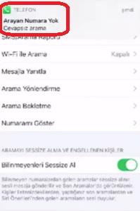 iPhone 8 gizli numara engelleme