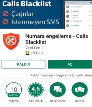 General mobile engellenen mesajlar nerede