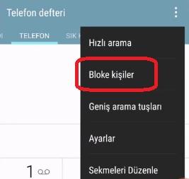 HTC arama engelleme kaldırma