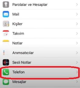 iPhone kayıtlı olmayan numaralar meşgule düşüyor