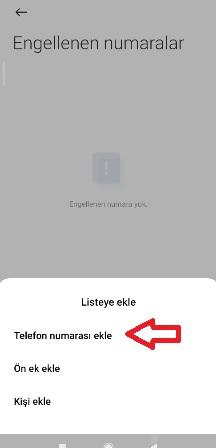 Xiaomi poco numara engelleme