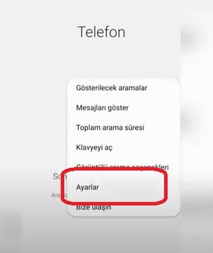Rehberde kayıtlı olmayan numaraları engelleme Samsung